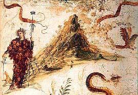 Affresco Pompeiano con Vesuvio